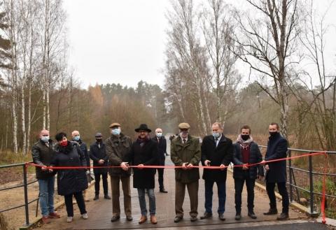 Przecięcie wstęgi na moście w Tarnowie