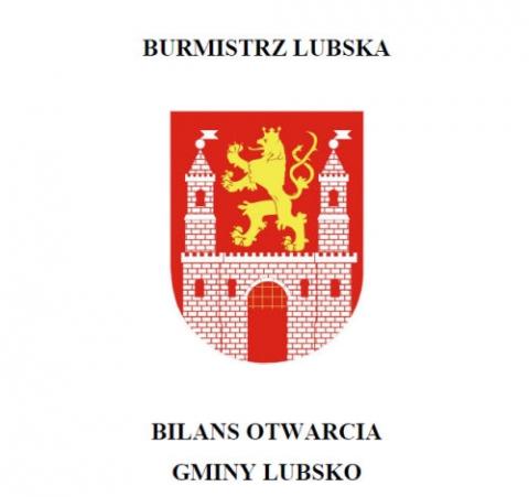 BILANS OTWARCIA GMINY LUBSKO wg stanu na 31.12.2018r.