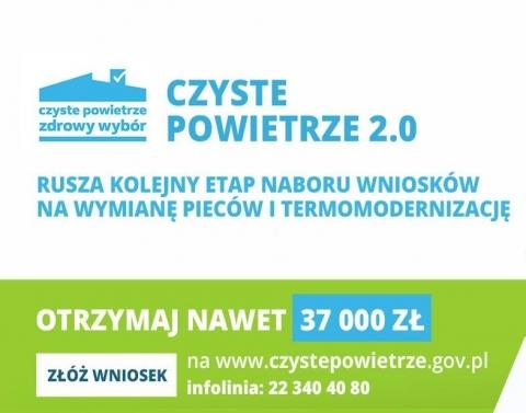 Program Czyste Powietrze 2.0 Otrzymaj nawet 37tys. zł