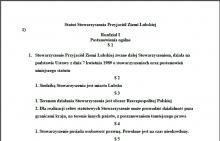 Projekt Statutu Stowarzyszenia Przyjaciół Ziemi Lubskiej