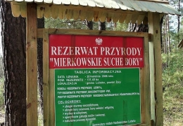 Tablica informacyjna - Mierkowskie Suche Bory