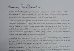 Pismo od Wojewody Lubuskiego