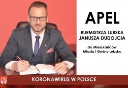 Koronawirus w Polsce - apel Burmistrza Lubska do Mieszkańców Miasta i Gminy Lubsko