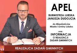 Apel Burmistrza Lubska