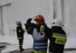 """Ćwiczenia pt., """"Pożar składowiska sortowni odpadów komunalnych w Zakładzie Zagospodarowania Odpadów Sp. z o.o. Marszów """"."""