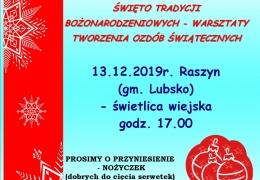 Warsztay Bożonarodzeniowe z LGD 13.12.2019 w Raszynie