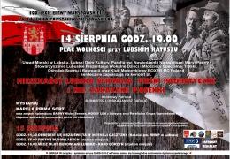 Plakat rocznicy obchodów Powstania Warszawskiego