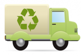 Samochód z grafiką symbolizującą recykling