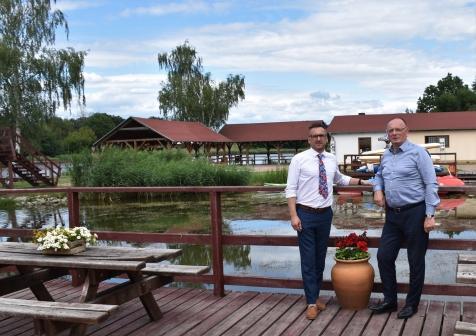 Burmistrz Lubska rozmawia z Wicemarszałkiem Województwa Lubuskiego o szansach na nowy basen w Lubsku