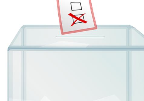 Urna na karty do głosowania