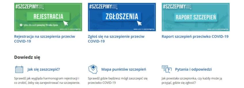 Link do informacji o szczepieniach